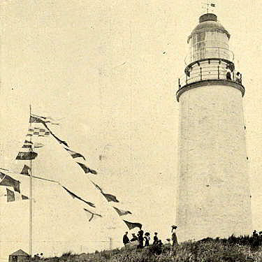 Old photo of Bruny Island Lighthouse taken in December 1912