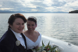 Amy and Kim's wedding at Bruny Island Lodge 2017