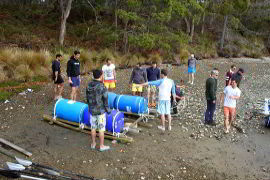 Raft building exercise