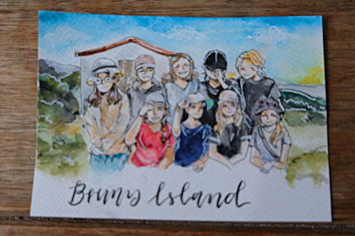 Bruny Island IGS Art drawing