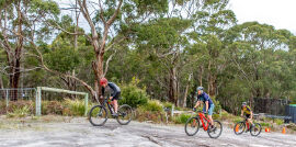 bike riding at Bruny Island Lodge