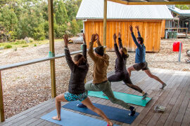 Yoga at Bruny Island Lodge